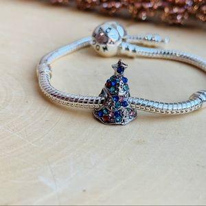 🎄Tree silver charm fits any charm bracelet